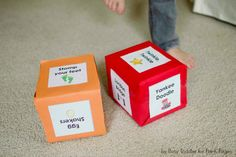 singing moving gross motor DIY cubes