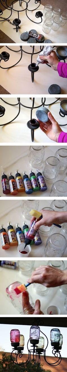 Mason Jar Chandelier DIY — Saved By Love Creations....