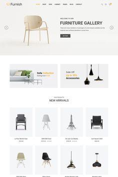 Furnish – Minimalist Furniture Website Template - Home Page Website Design Inspiration, Best Website Design, Website Design Layout, Homepage Design, Web Layout, Layout Design, Material Design Website, Html Layout, Minimalist Furniture