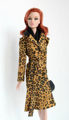 Leopard Print Raincoat for 16 inch Fashion Dolls