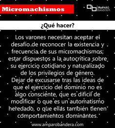 Micromachismos ¿Qué hacer? #Micromachismo #Micromachismos #mM
