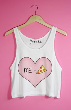 "T-shirt Yotta Kilo  ""me+pizza = <3"""