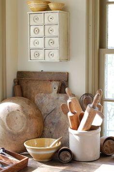 vintage kitchen implements