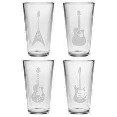 Susquehanna Glass Guitar Pint Glass (Set of 4)