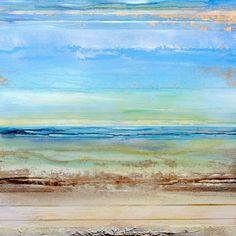 Saatchi Online Artist: Mike Bell; Mixed Media, 2011, Painting Hauxley haven Blue Rhythms & textures 1c