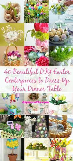 40 Beautiful Diy Easter Centerpieces To Dress Up Your Dinner Table Diy &. Easter Projects, Easter Crafts, Holiday Crafts, Holiday Fun, Easter Decor, Easter Centerpiece, Easter Ideas, Bunny Crafts, Centerpiece Ideas