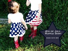 4th of July Ruffle Skirt. Independence Day is coming up, so be prepared and pick out your favorite projects now!
