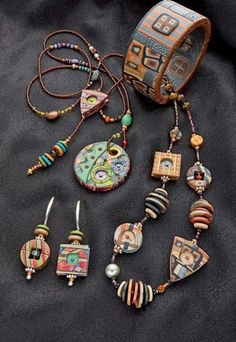 This lady's polymer clay pieces are to die for!