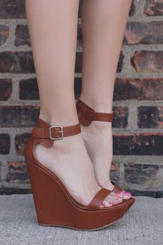 Whiskey Faux Leather Wrapped Platform Wedge VIVI-41 – UOIOnline.com: Women's Clothing Boutique