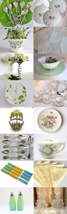 FRESH TABLE SETTING IDEAS FOR SPRING #voguet by v385 on Etsy, www.PeriodElegance.etsy.com