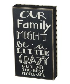 Look at this 'Our Family' Box Sign on #zulily today!