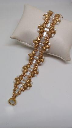 Diamond bracelet, with diamonduo e brick.   #semplicicreazioni  #diamonduo #firepolished #bijouxhandmade #diamonduobracelet #tutorial #pattern #diamonduopattern #diamonduotutorial