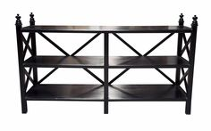 Criss-Cross Console, Hand Rubbed Black