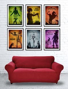 Tim Burton Movie Poster Set / 6 Posters / Sleepy by TopPoster