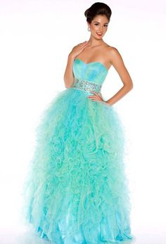 Beautiful PROM dress. The strapless, beaded waist folded multicolor dress, edge. The floor length ball gown! $138.00
