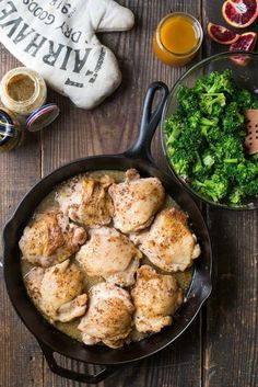 Skillet Maple-Mustard Chicken and Broccoli with Vinaigrette