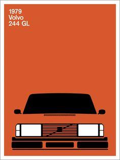 Volvo 244GL (I like the clean graphics here)