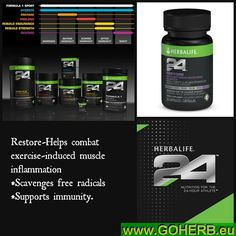 H24 RESTORE-There will always be someone better, faster, stronger. Be that someone. WITH HERBALIFE24! H24 products are sold exclusively through Herbalife Independent Distributors This is a GREAT OPPORTUNITY for YOU! MAXIMIZE YOUR POTENTIAL! Become a H24 Distributor! CONTACT ME NOW! SASA, INDEPENDENT HERBALIFE DISTRIBUTOR since 1994 https://www.goherbalife.com/goherb/ Phone: USA: 001- 213 98 49 377 Italia: 0039- 346 24 52 282 Deutschland: 0049- 5233 70 93 696 Skype: sabrinaefabio