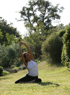 Gymnastic in the enchanting park, Park hotel ai Cappuccini, Gubbio