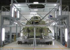 Inside the Orion Spacecraft   Slideshow   Fox News - The first Orion crew module ground test structure stands ready for inspection after being completed at NASA's Michoud Assembly Facility in New Orleans.