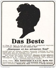 Original-Werbung/ Anzeige 1910 - SCHWARZKOPF SHAMPOON - ca. 90 x 110 mm
