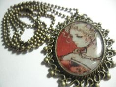 Final Fantasy Terra pendant antiqued gold with by ReturnersHideout, $16.50
