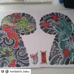 #Repost @horidaichi_haku  #irezumi #tattoo #tattoosketch #japanesetattoo #tattoodesign #addflash_ @addflash_