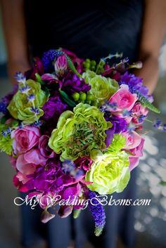 Green & Purple? :  wedding Bou