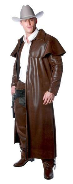Duster Adult Men's Costume Cowboy Long Coat Fancy Dress Up Underwraps Jedi Costume, Costume Armour, Fancy Dress Up, Fancy Dress Outfits, Mens Duster Coat, Western Duster, Adult Costumes, Halloween Costumes, Character