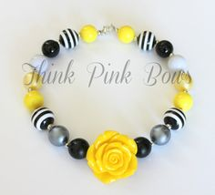 Girls Chunky Necklace Girls Bubblegum Chunky by ThinkPinkBows, $14.95