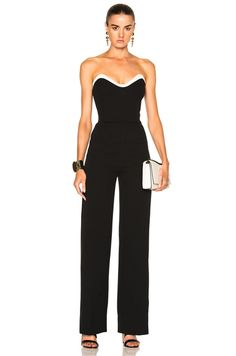 Technical Cady Bicolor Jumpsuit in Black & Off White