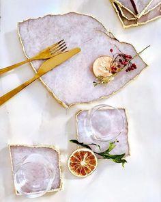 wohnen – Home Epoxy Resin Crafts, Resin Art, Kitchen Decor, Kitchen Cart, Dinnerware, Home Accessories, Decoration, Sweet Home, Diy Home