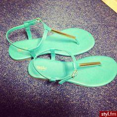 adorable mint green sandals