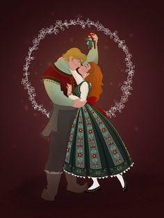 Christmas Couple: Anna and Kristoff by Grodansnagel.deviantart.com on @DeviantArt
