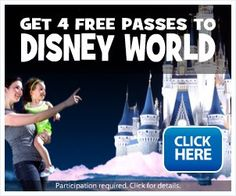 4 Free Disney World Passes