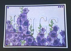 Created by Jane Compton Craftwork Cards, Ultra Violet, Flora, Create, Paper, Painting, Tea, Collection, Painting Art