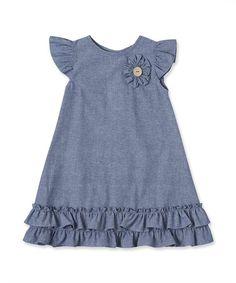 Idea for dress for Mad Baby Girl Frocks, Frocks For Girls, Little Girl Dresses, Kids Dress Wear, Kids Gown, Girls Denim Dress, Kids Wear, Girls Frock Design, Baby Dress Design
