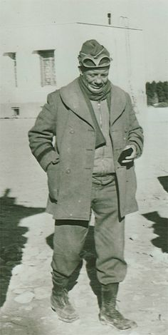 Brigadier General Theodore Roosevelt, Jr., assistant commander of the 1st Infantry Division, seen here at the Tunisian front.