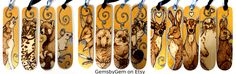 A range of metallic gold bookmarks! All are matt varnished For sale here: www.etsy.com/uk/shop/GemsbyGem… (first come, first served I'm afraid - I don't repeat designs )