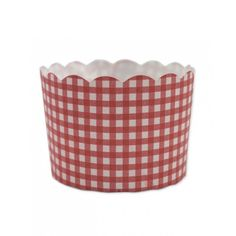 Red Check patty cake cup (50pk)