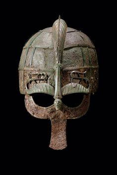 A 7th century Swedish helmet.  Found inVendel, Uppland, this stunning helmet once belonged to a man who presumably played aneminent role inUppland's political sphere during the 7th century. The bronze crest of this helmet is in the shape of a dragon or bird.