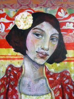 mixed media on canvas- Leo-Vinh- 2013 Mixed Media Collage, Mixed Media Canvas, Collage Art, Collages, Abstract Portrait, Portrait Art, Mix Media, Creation Art, Art Sculpture