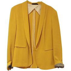 Pre-owned Rag & Bone & Silver Tuxedo Mustard Blazer ($161) ❤ liked on Polyvore featuring outerwear, jackets, blazers, blazer, coats & jackets, mustard, mustard jacket, silver tuxedo, yellow tuxedo jacket and rag bone jacket