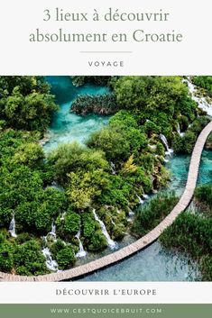 Découvrir les plus beaux lieux de la Croatie #croatie #dubrovnik #europe #travel #voyage Road Trip, Les Cascades, Voyage Europe, Destination Voyage, Parc National, Parcs, River, Lifestyle, Outdoor