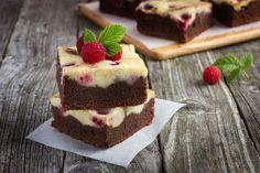 Brownies a malinový cheesecake