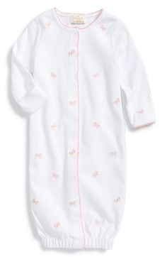 kate+spade+new+york+kids+'schiffli+bow'+pima+cotton+convertible+gown+(Baby+Girls)+available+at+#Nordstrom
