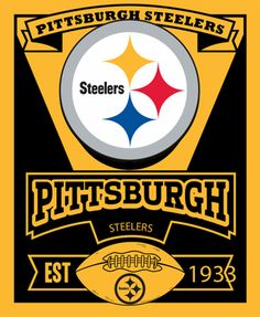 Pittsburgh Steelers Fleece Throw Blanket 50 X 60 Steelers Steelers Blanket Nfl Steelers
