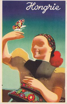 Hongrie - Hungary - travel poster postcard designed by Konecsni & Kling, c1935 by mikeyashworth, via Flickr