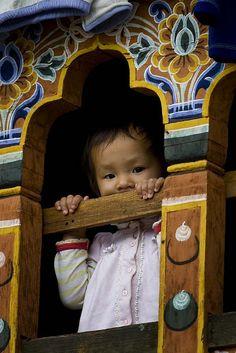 Baby in Window | Bhutan