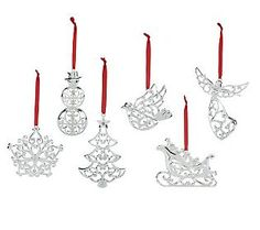 Shimmery, classic ornaments .... Lenox always does it right.